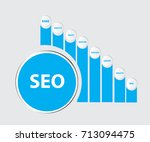 seo.search engine optimization... | Shutterstock .eps vector #713094475