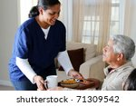 home health care worker and an... | Shutterstock . vector #71309542