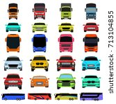 transport icons | Shutterstock .eps vector #713104855