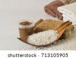 skin care products. sea salt ... | Shutterstock . vector #713105905