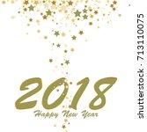 happy new year 2018  gold stars ...   Shutterstock .eps vector #713110075