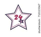 steady services 24 7 .vector... | Shutterstock .eps vector #713115367