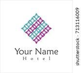 hotel logo template | Shutterstock .eps vector #713116009