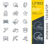 lineo editable stroke   sports... | Shutterstock .eps vector #713116729