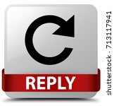 reply  rotate arrow icon ... | Shutterstock . vector #713117941