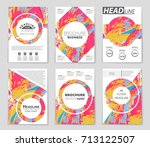 abstract vector layout... | Shutterstock .eps vector #713122507