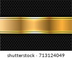 abstract gold banner on gray... | Shutterstock .eps vector #713124049