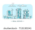 city landscape. real estate and ... | Shutterstock .eps vector #713130241
