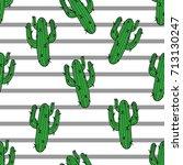 Cactus Seamless Pattern. Modern ...