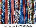 traditional ukrainian clay... | Shutterstock . vector #713132464
