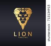 lion logo. luxury lion logotype.... | Shutterstock .eps vector #713134915