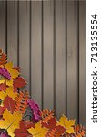 autumn paper background with... | Shutterstock .eps vector #713135554