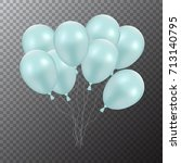 3d realistic colorful balloons. ...   Shutterstock .eps vector #713140795