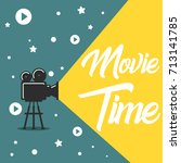movie time concept.creative... | Shutterstock .eps vector #713141785