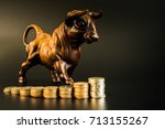 financial investment in bull... | Shutterstock . vector #713155267