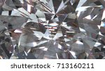 realistic diamond with caustic...   Shutterstock . vector #713160211