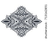 tribal art boho hand drawn... | Shutterstock .eps vector #713162851
