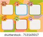 a schedule of lessons  a poster ... | Shutterstock .eps vector #713165017