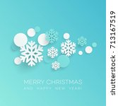 abstract papercraft snowflakes... | Shutterstock .eps vector #713167519