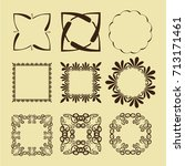 illustration of set of vintage... | Shutterstock .eps vector #713171461