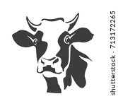 beef head isolated  cow black... | Shutterstock .eps vector #713172265