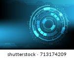 vector digital circuit... | Shutterstock .eps vector #713174209