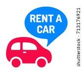 rent a car. icon  logo vector... | Shutterstock .eps vector #713176921