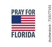 pray for florida. hurricane... | Shutterstock .eps vector #713177101