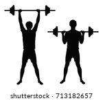 set of two vector black... | Shutterstock .eps vector #713182657