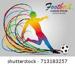 visual drawing football sport...   Shutterstock .eps vector #713183257