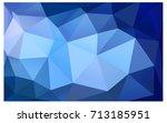 dark blue vector polygonal... | Shutterstock .eps vector #713185951