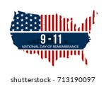 9 11 national day of... | Shutterstock .eps vector #713190097
