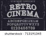 font serif typeface vector... | Shutterstock .eps vector #713191345