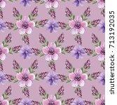 decorative seamless pattern... | Shutterstock . vector #713192035