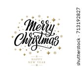 merry christmas vector text... | Shutterstock .eps vector #713192827