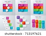 set with infographics. data and ... | Shutterstock .eps vector #713197621
