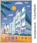 sunny day in florida  usa.... | Shutterstock .eps vector #713199049