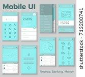vector mobile ui for finance ... | Shutterstock .eps vector #713200741