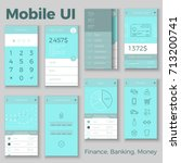 vector mobile ui for finance ...