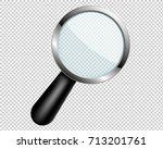 magnifying glass with... | Shutterstock .eps vector #713201761
