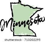 hand drawn minnesota state... | Shutterstock .eps vector #713202295