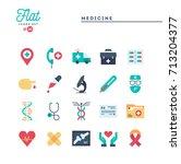 medicine  health care ... | Shutterstock .eps vector #713204377