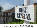 "Beach Sign ""bike Rental"""