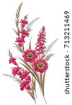 Stock photo floral background branch of flower 713211469