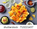 Nachos Chips With Melted Chees...