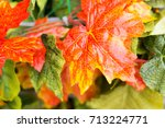 background of decorative autumn ... | Shutterstock . vector #713224771