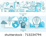 financial management  analysis... | Shutterstock .eps vector #713234794