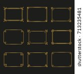 art deco gold horizontal frames ... | Shutterstock .eps vector #713235481