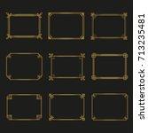 art deco gold horizontal frames ... | Shutterstock .eps vector #713235481