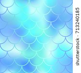 fantastic blue mint fish skin... | Shutterstock .eps vector #713240185